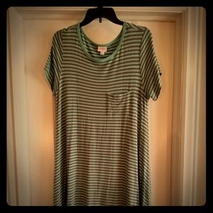 Lularoe mint stripe Carly dress